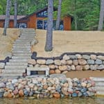 Lakeshore Improvement retaining wall